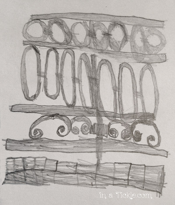 6 yr old drawing of fence
