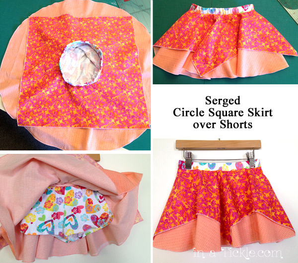 Circle Square Skirt over Shorts