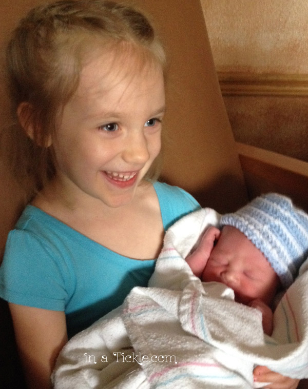 My Princess with baby brother