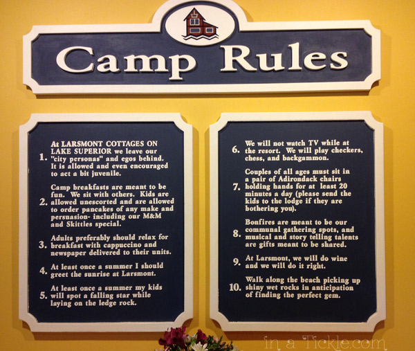 Camp Rules