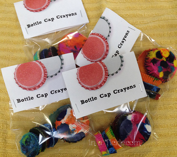 Bottle Cap Crayons