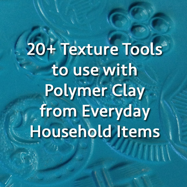 Clay Texture Tools From Everyday Items