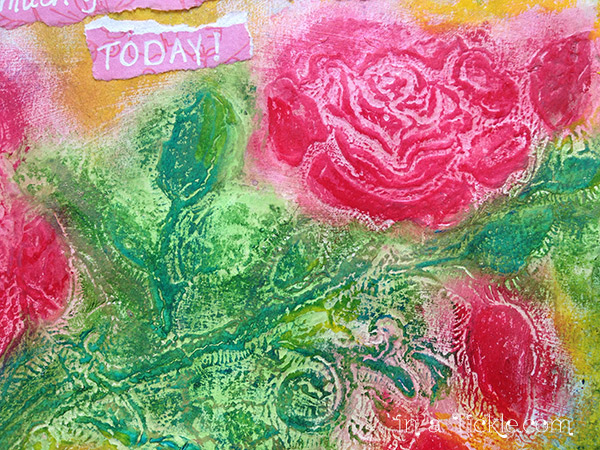 Gesso with Stencil and Gelatos