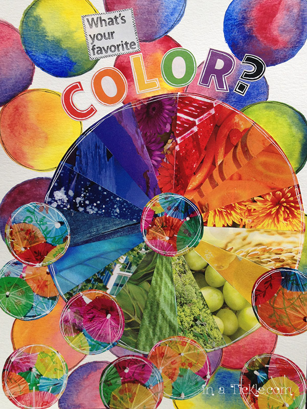 Color Wheel  Multimedia Collage DLP