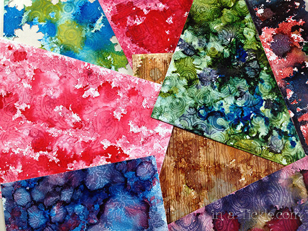 Wax Paper Resist Alcohol Inks