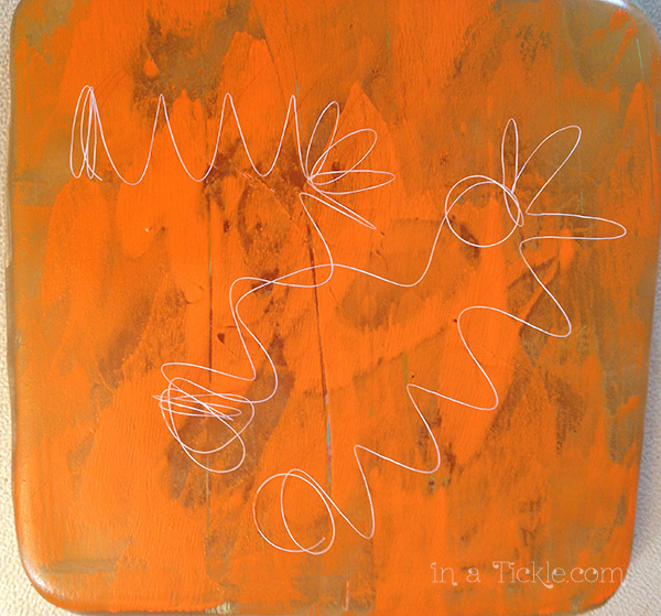 Gelli-Print-Orange-Thread