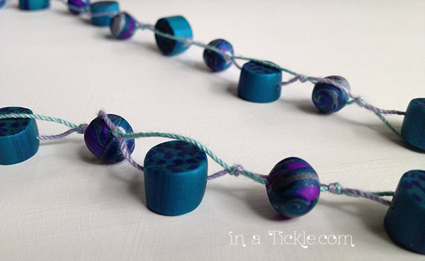 Clay-Bead-Double-String-Necklace