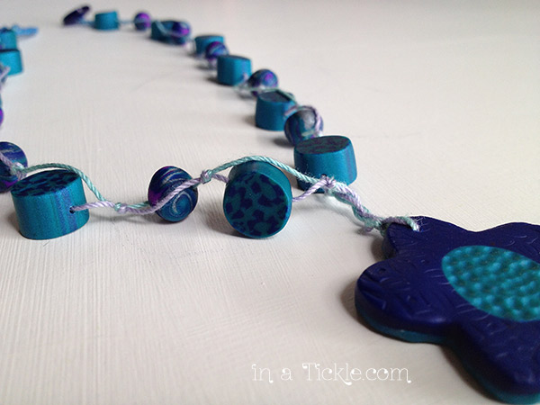 Clay-Bead-String-Necklace