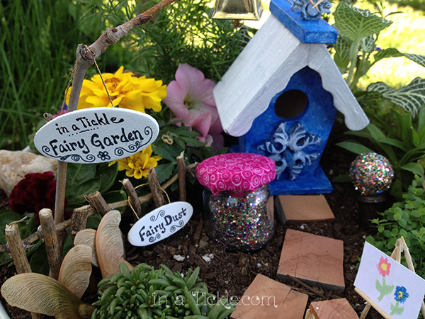 in a Tickle Fairy Garden