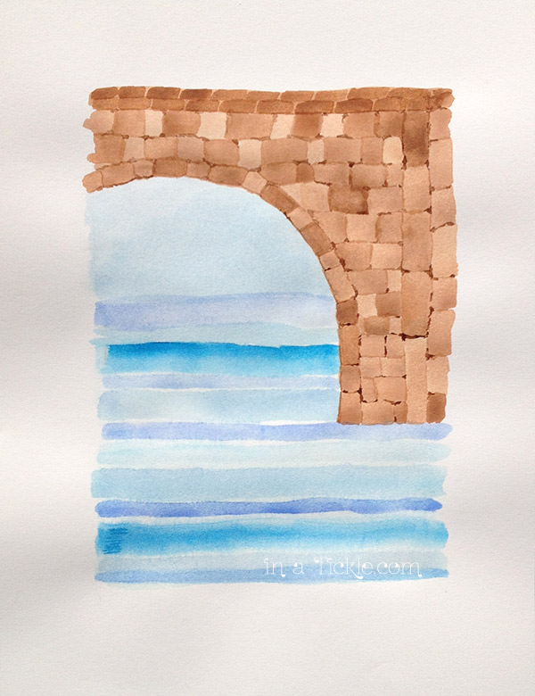 Watercolor-Water-Under-the-Bridge