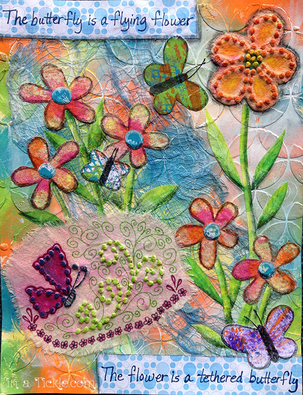 Butterfly-Flower-Mixed-Media
