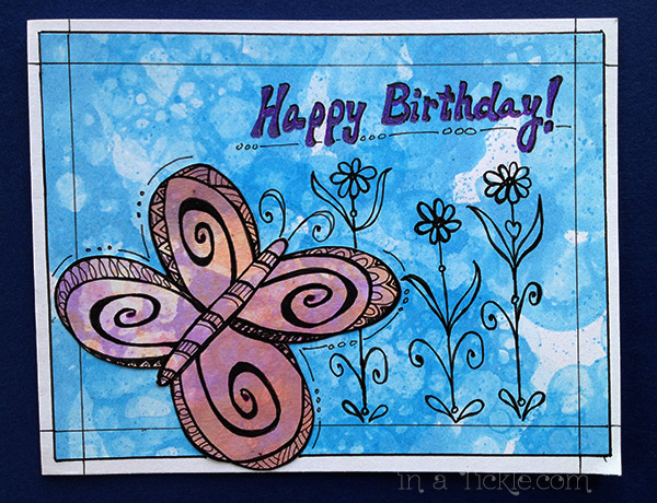Butterfly Birthday-card