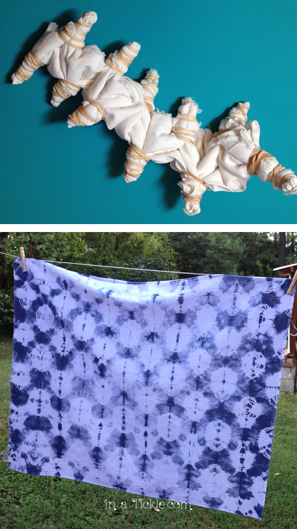 Experimenting With Shibori Dyeing - In A Tickle