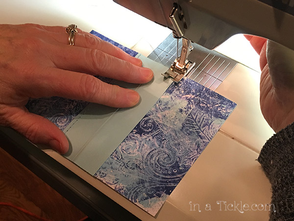 Sewing-spine-on-mini-book
