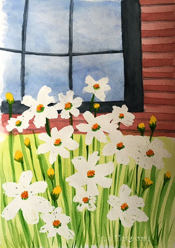 Watercolor-Daisys