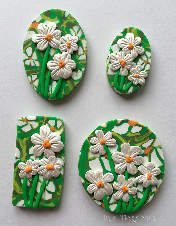 Clay Daisy-Pendants