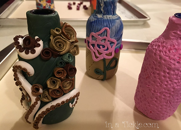 Polymer Clay Covered Bottles